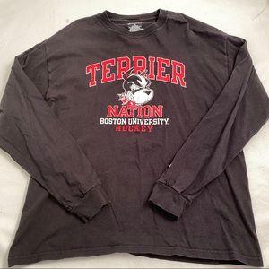 Champion black/red Boston University hockey tshirt